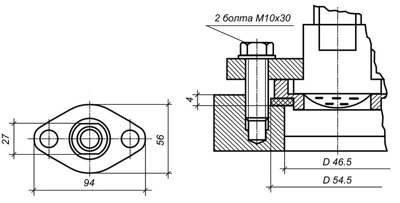 МТП-100/1-ВУМ - рекомендуемая схема монтажа